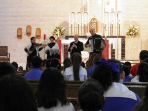 Koncert w kościele Św. Pawła w San Antonio