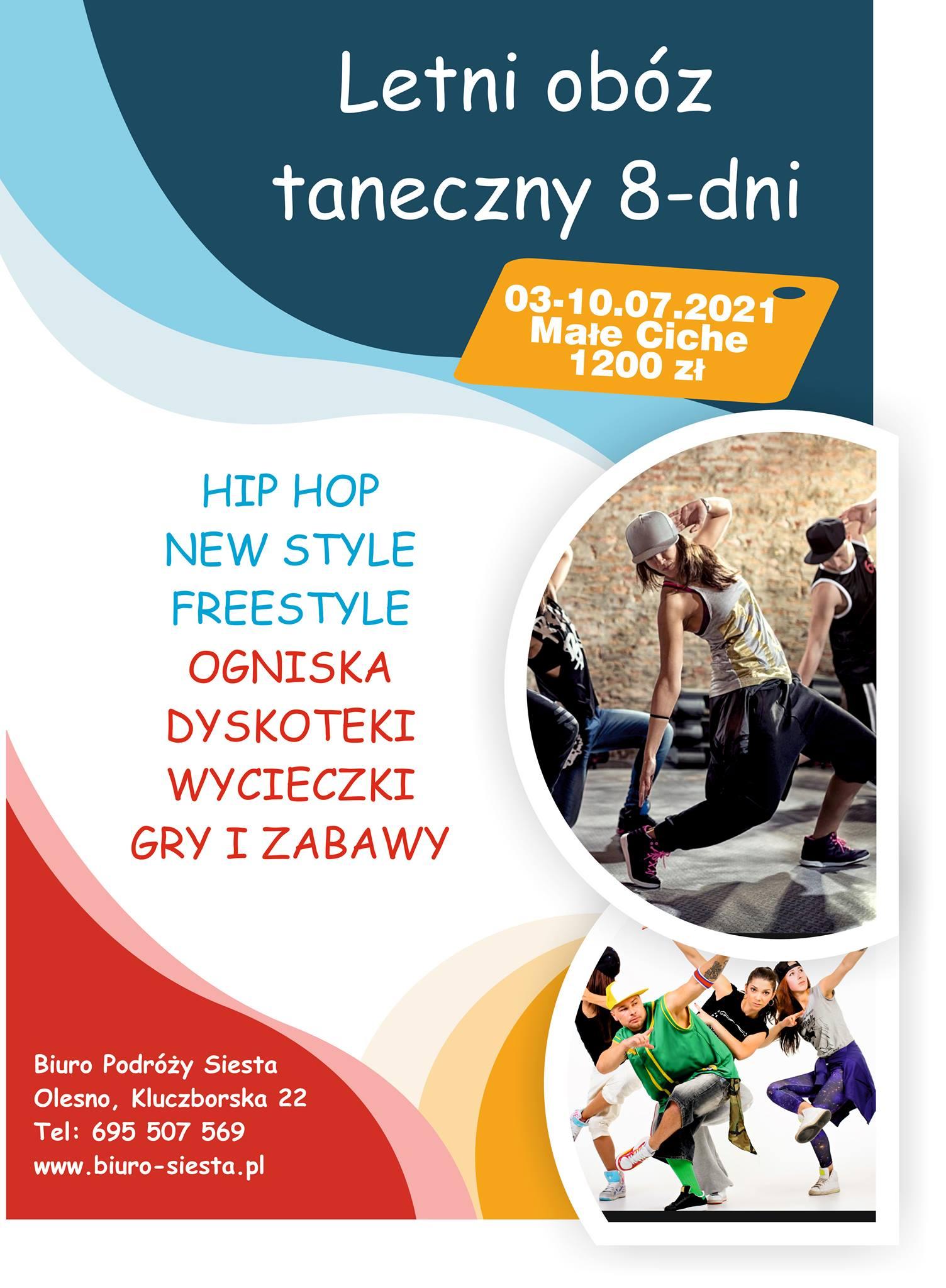 plakat obóz taneczny