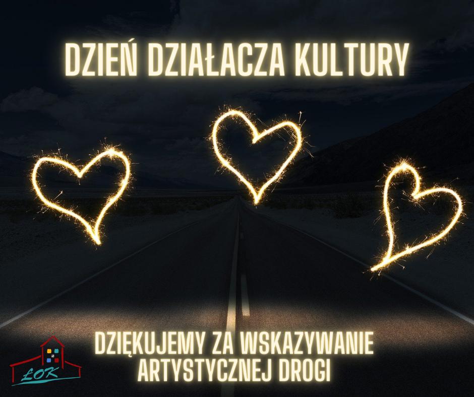 Trzy serca z napisem