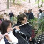 Justyna Konik i Pascal Wiench w trakcie koncertu fletowego