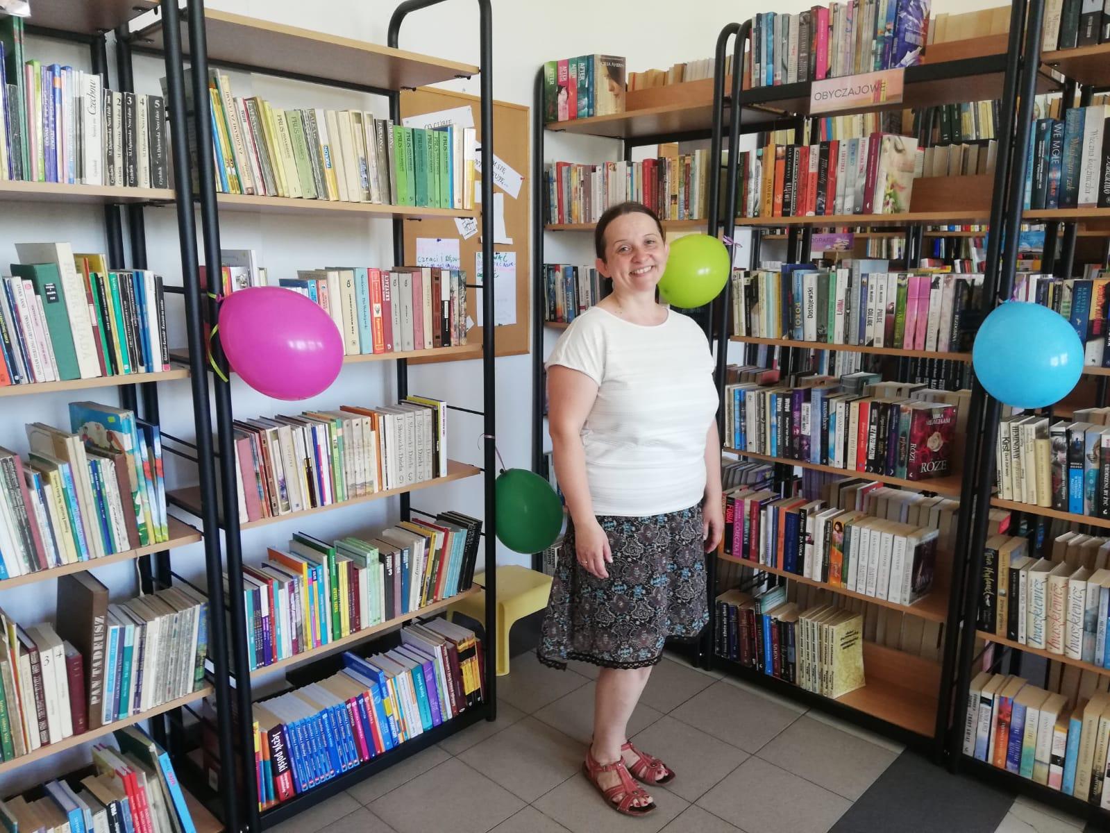 Pani Marzena - bibliotekarka z Luboszyc