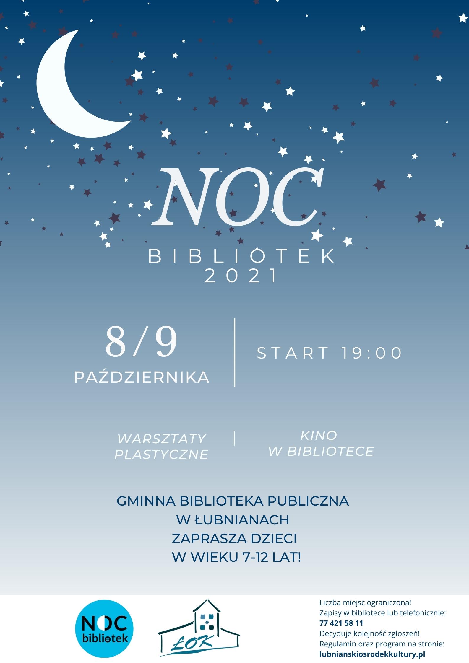plakat Nocy Bibliotek 2021